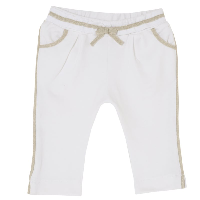Фото - Pants stretch Chicco, size 068, color White shoes velcro genuine leather chicco size 200 color white