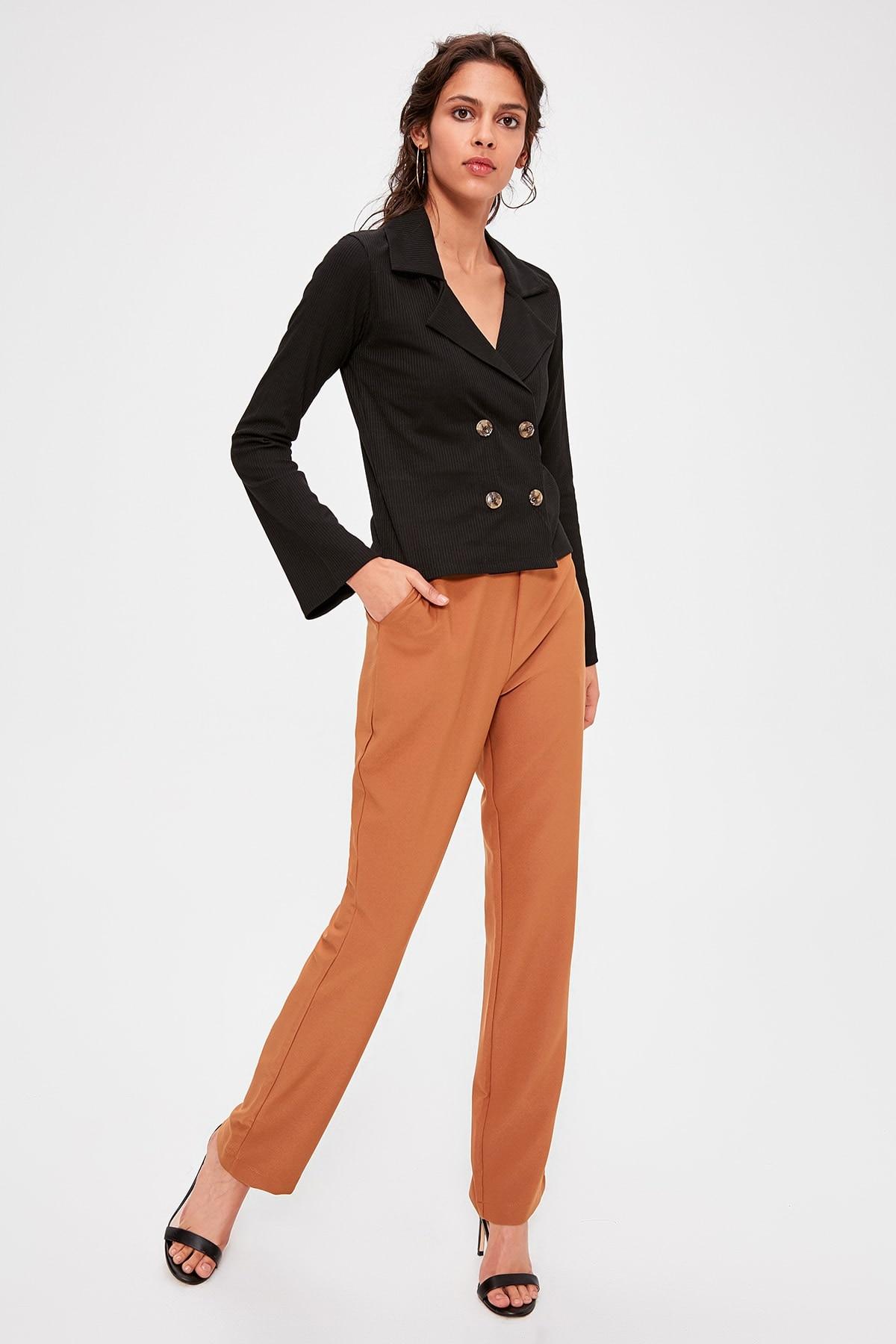 Trendyol Cinnamon Basic Pants TWOAW20PL0318