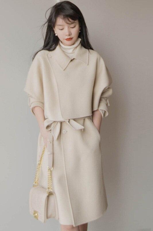 Шерстяная накидка в западном стиле, жилет, юбка, костюм-двойка, Женский темпераментный костюм, костюм для женщин