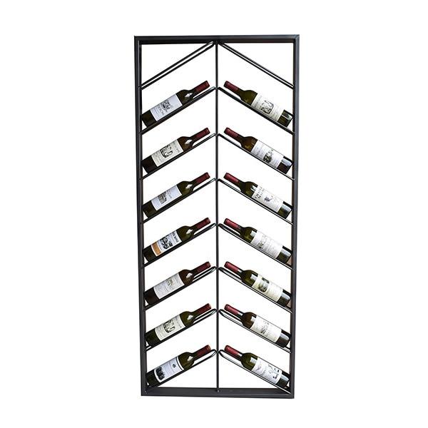Bottle rack Metal Wall (160 x 6 x 70 cm)|Bar & Wine Cabinets| |  - title=