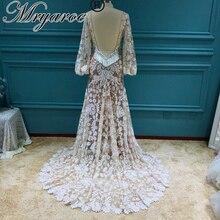 Mryarce 2020 nowoczesna panna młoda unikalna koronkowa suknia z długim rękawem boho weselny czeski suknie ślubne