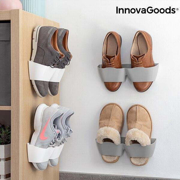 InnovaGoods Adhesive Shoe Racks (4 Pairs)