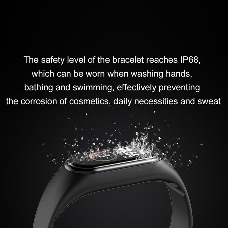 Uc7d4b2ce09ba4610b658ad0de3add2cfR Wipe Out Virus M4 Smart band 4 Fitness Tracker Watch Sport bracelet Heart Rate Blood Pressure Smartband Monitor Health Wristband