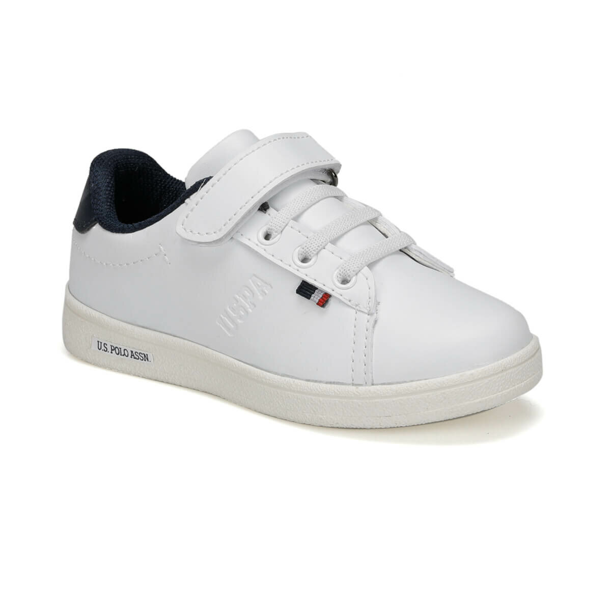 FLO FRANCO 9PR White Male Child Sneaker Shoes U.S. POLO ASSN.