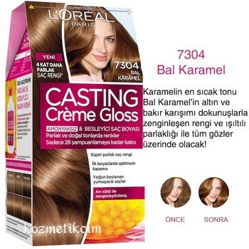 Loreal Paris Casting Crème połysk farba do włosów 7304 miód karmel 313067343 tanie i dobre opinie