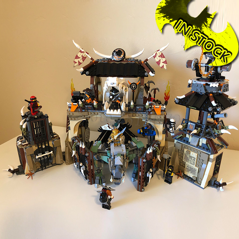 Catch The Dragon Tribe Base Camp 1714pcs 10940 In Stock Ninja Series 06082 Building Blocks Bricks Toys Compatible With 70655