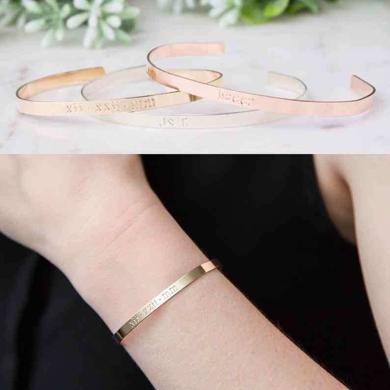 Bebê personalizado nome da criança pulseira & pulseira de aço inoxidável gravado flor do coração com carta pulseira crianças jóias feitas sob encomenda