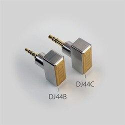 HiFi DJ44B DJ44C 여성 4.4 균형 어댑터 2.5 / 3.5 남성 변환 어댑터 4.4mm 균형 이어폰 케이블 액세서리