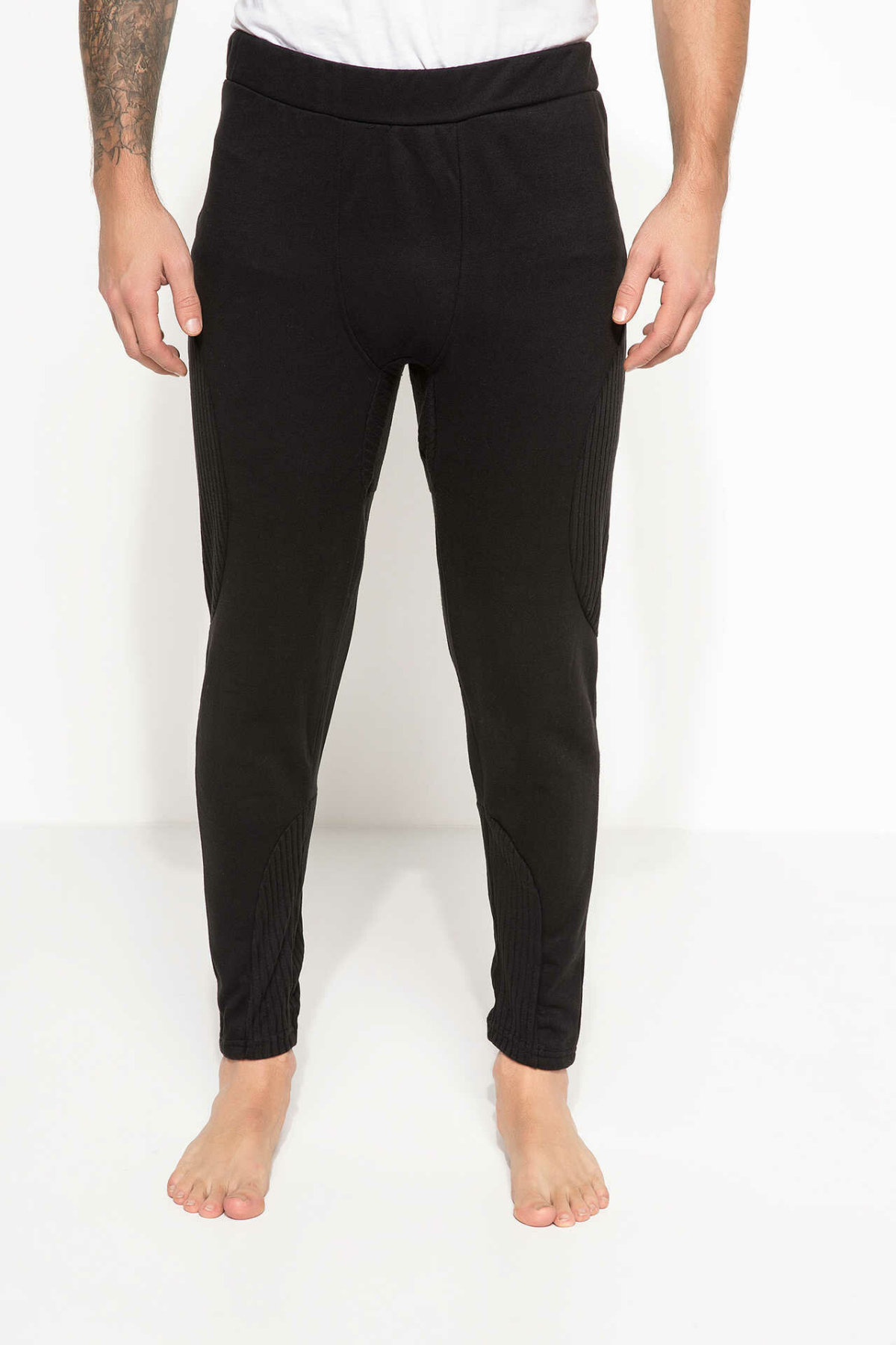 DeFacto Man Winter Elastic Pants Men Casual Black Long Pants Men Loose Pencil Pants Male Bottom Trousers-H7111AZ17WN