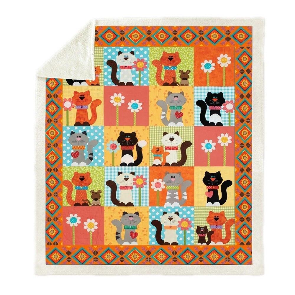 Sofa-Cushion-Yoga-Mat-Blanket-Picnic-Blanket-Thick-Double-layer-Plush-Anime-Cat-3d-Print-Carry (4)