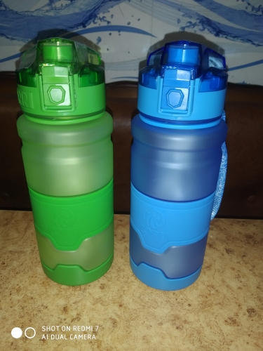 ZORRI Bottle For Water Protein Shaker Portable Motion Sports Water Bottle Bpa Free Plastic For Sports Camping Hiking Gourde-in Water Bottles from Home & Garden on AliExpress