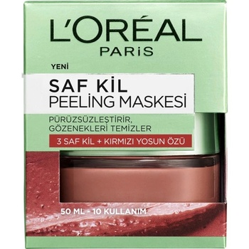 Loreal Paris maska złuszczająca z czystej gliny 50ml 365213043 tanie i dobre opinie