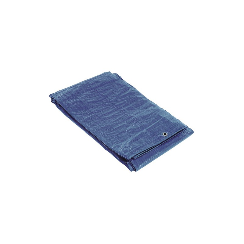 Waterproof Canvas Blue With Metal Eyelets 5x6 Meters (About)