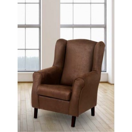 Armchair One Upholstered In Semi-leather.