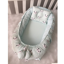 Jaju Baby Handmade Babynest Panda Patterned 100% Cotton Baby Nest Baby Bed, Mother Side Bed