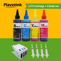 Plavetink 400ml Printer Ink + LC12 LC40 LC71 LC73 XL Ink Cartridge For Brother MFC J960DWN W J432W J430W J6910DW J6710DW J5910DW|Ink Cartridges|Computer & Office -