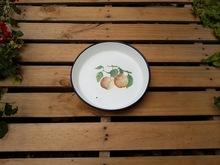 Vintage rosyjski towar jabłko wzór taca cynkowa Beg_2481 388509629 tanie tanio