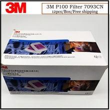 Cartouche de gaz 12 M 7093CN P100, filtre KP100 contre les particules/PM0.3/fumée de soudage, adapté pour masque 3M 6200/6800/7502