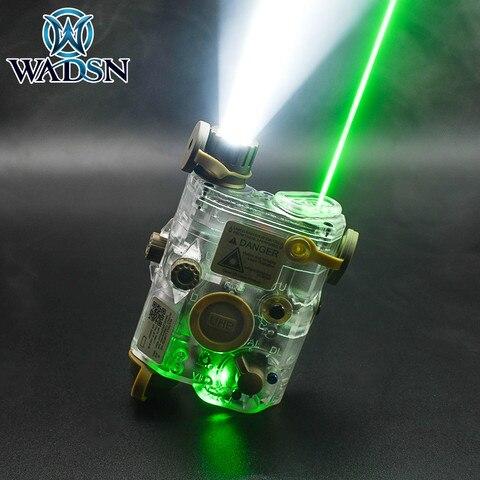 wadsn peq15 ponto verde tatico luz la 5c uph aparencia ir laser led luz transparente