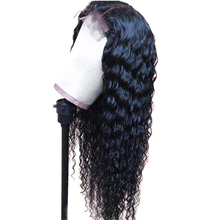Deep Wave Curly Human Hair Wig 4*4 Lace Closure Brazilian Wigs For Women