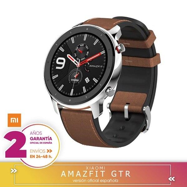 Para Xiaomi Huami AMAZÔNIA GTR Smartwatch Tela Retina 5ATM 47mm Versão global-liga De Alumínio à prova d' água GPS