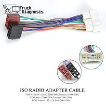 Faisceau de câblage de prise Radio ISO de voiture pour Nissan Almera Premiera Micra Terrano Vanette x trail adaptateur de fil 12 018