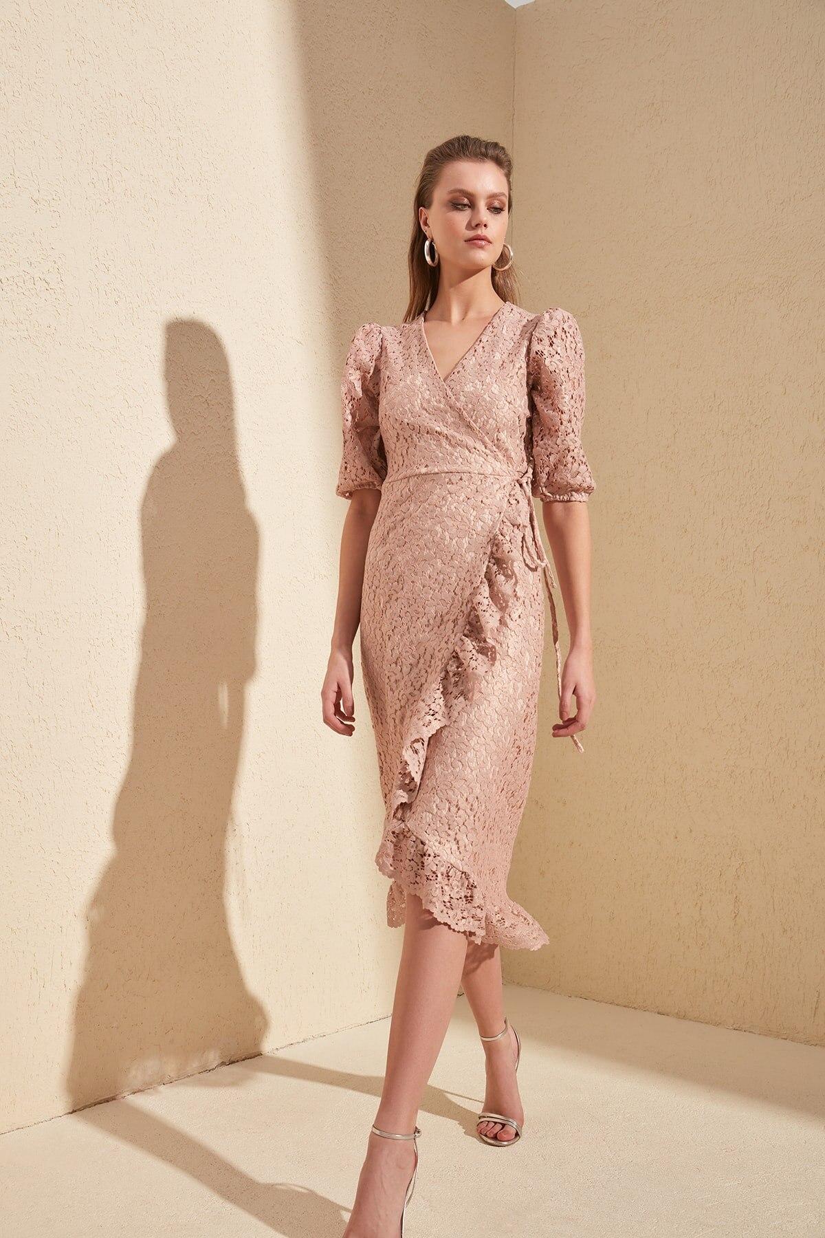 Trendyol Lacing Detail Dress TPRSS20EL0120