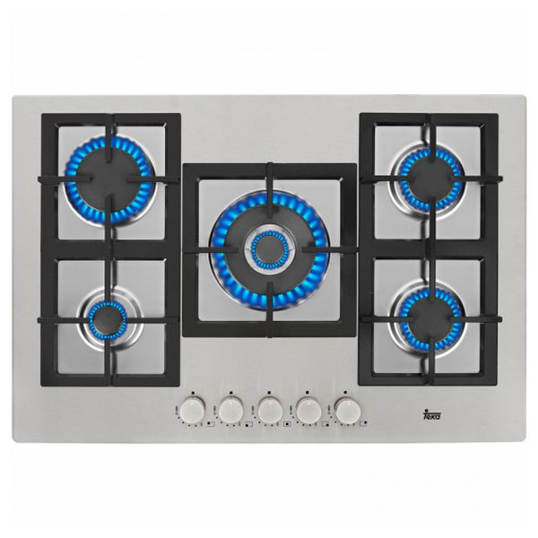 Gas Hob Teka EFX70 70 cm Stainless steel (5 Stoves)|Cooktops| |  - title=