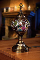 Decorative painted home light luster – mosaic table lamp mosaic lamp home decor