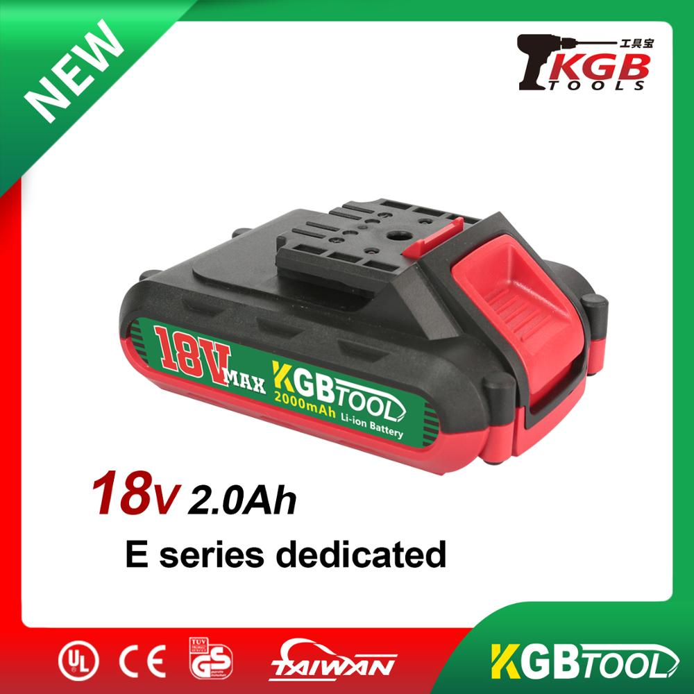 KGB 18V  2000mAh Lithium Battery For All E Series Power Tools