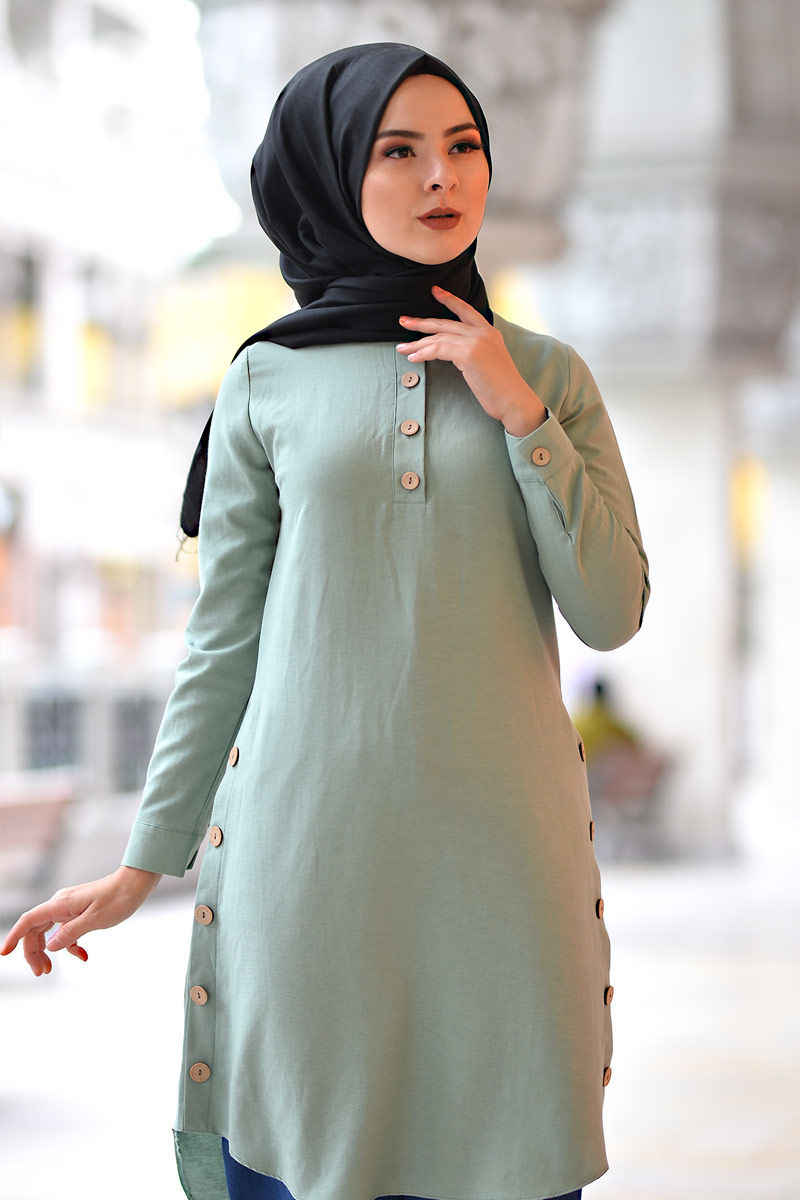 Girocollo Button Tunik TSD1041 Menta