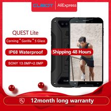 "Cubot Quest Lite IP68 Sports Rugged Phone MT6761 5.0"" Android 9.0 Pie 3000mAh 3GB+32GB Smartphone 4G LTE Dual Camera Type C"
