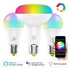 1/3 шт. Smart WiFi светильник Шарообразная светодиойдная лампа 4,5/7/11 Вт RGB/RGBW E27 Wake-Up теплые светильник s работать с Alexa Google Home рождественскую тематику, раздел-светильник s