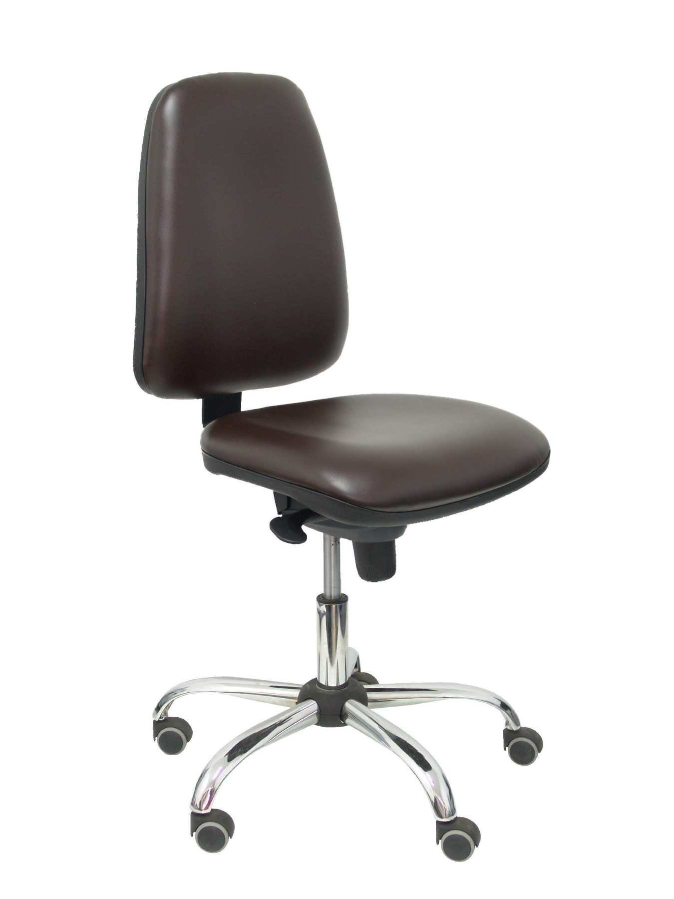 Ergonomic office chair with mechanism synchro and height adjustable Seat and fabric upholstered in similpiel color ma|  - title=