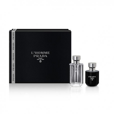 L HOMME PRADA 50ML EDT SPRAY + SHOWER GEL 100ML