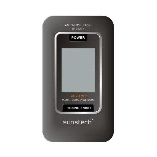 Транзисторный радиоприемник Sunstech RPD12BK AM/FM LCD черный