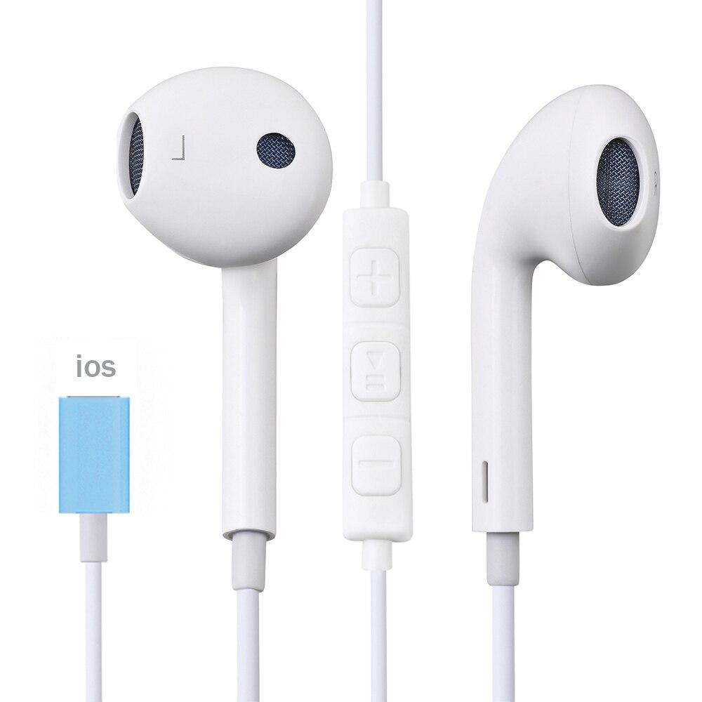 Наушники-вкладыши для iPhone SE 12 11 7 8 Plus XS MAX Pro, проводные стерео наушники-вкладыши с микрофоном и проводным управлением, Bluetooth-гарнитура