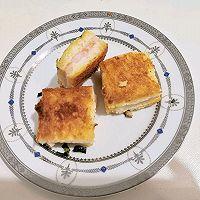 黄油葱香虾蓉吐司块的做法图解8
