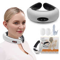 Elektrischen Impuls Neck Massager Halswirbel Impuls Massage Magnetische Therapie Relief Schmerzen Werkzeug Gesundheit Pflege Entspannung