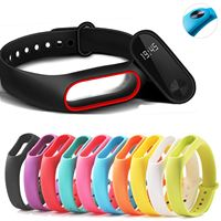 Flexible silicone dog leads refill replacement for xiaomi My band 2 spot Colour waterproof and Tough with closing original