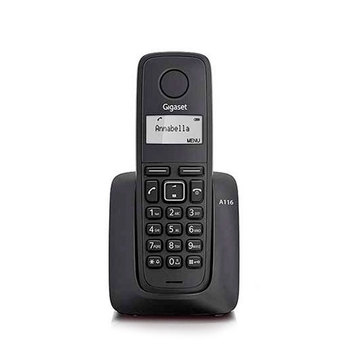 Gigaset A116-wireless phone-agenda 50 numbers-10 melodies-alarm-call Id.