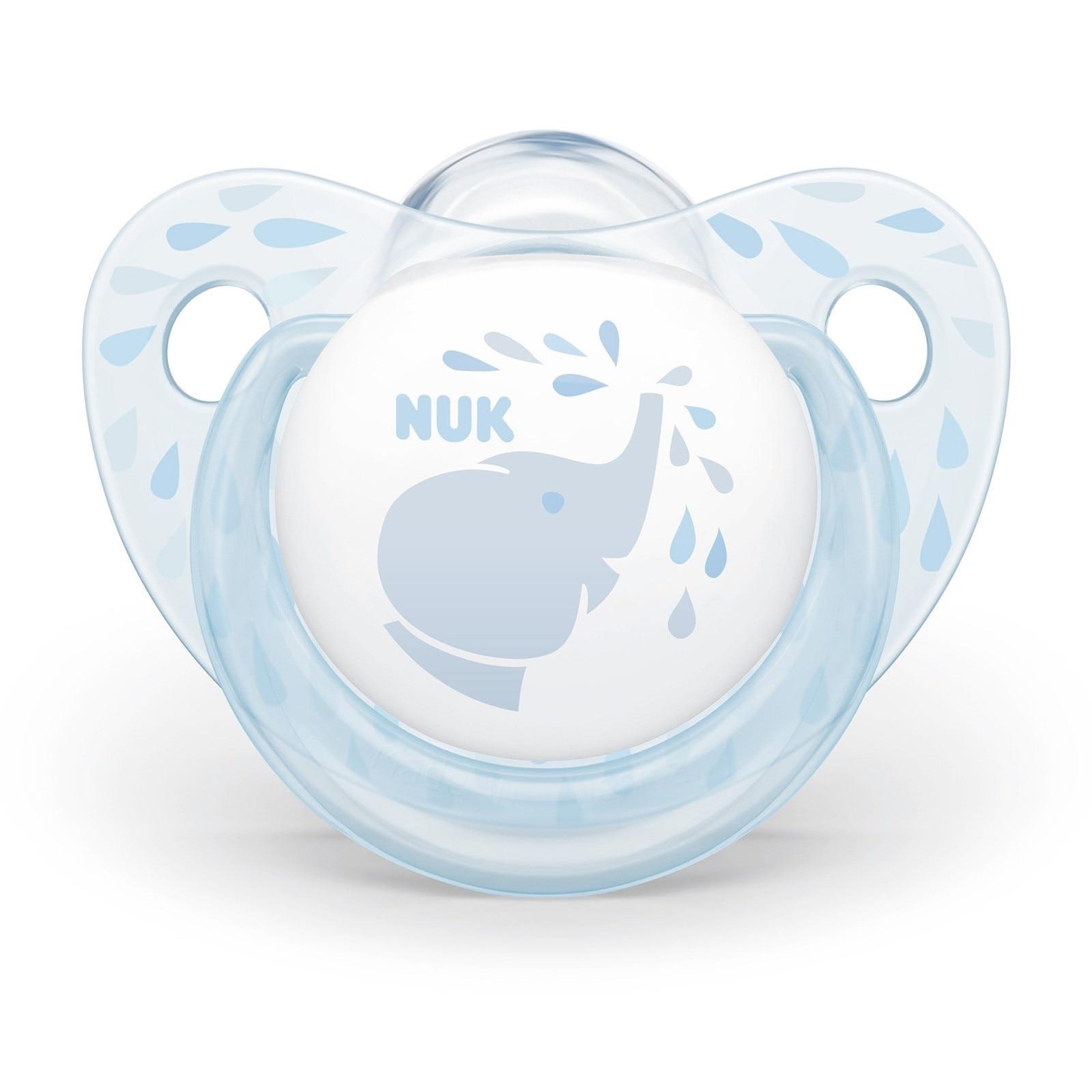 Ebebek Nuk Baby Blue Silicon Pacifier 6-18 Months Single