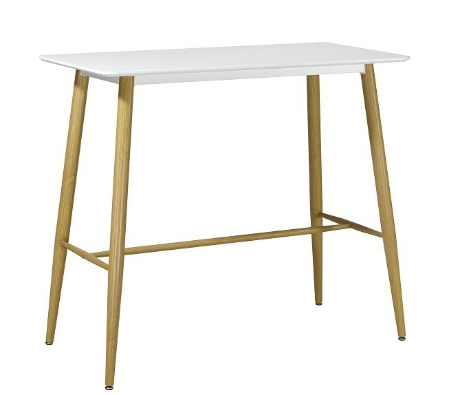 Table BETA, High Metal White, 120x60 Cms