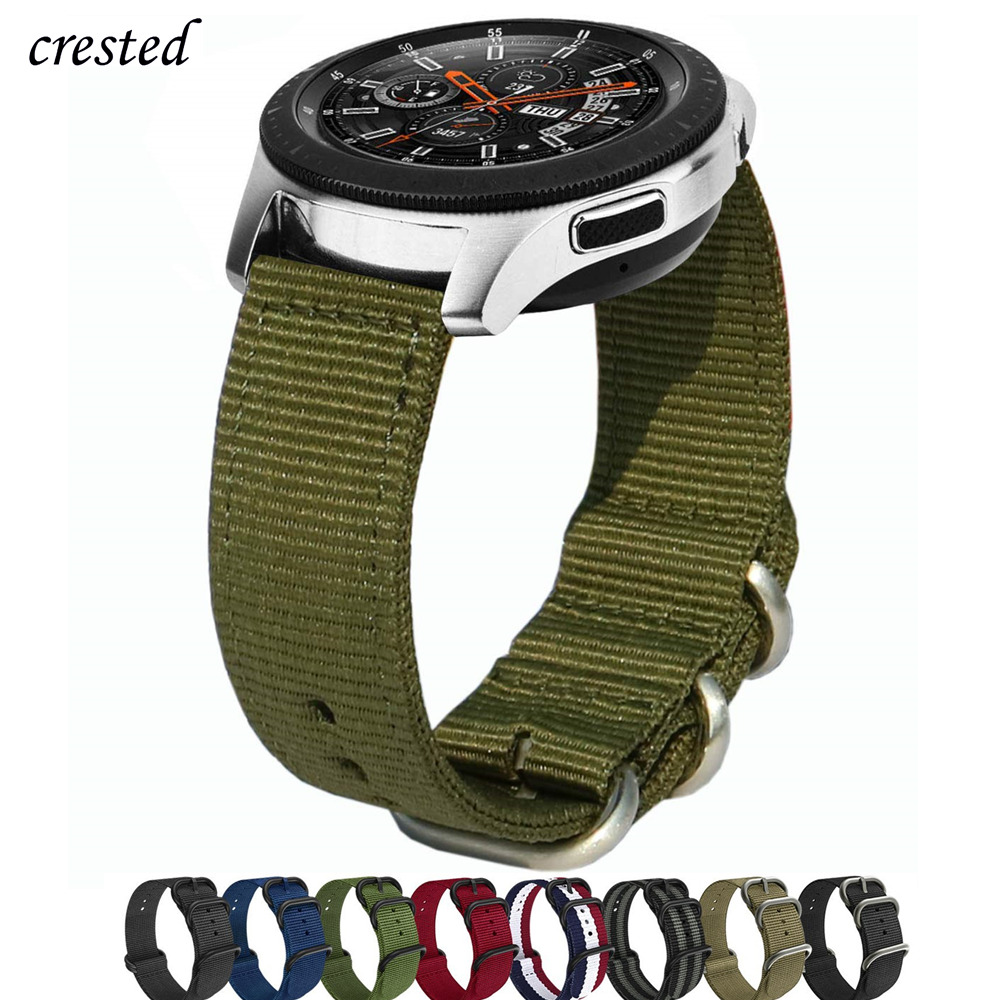 18/20/22mm Nato Strap For Samsung Galaxy Watch 46mm/42mm/Active 2 Band Gear S3 Frontier/Huawei Watch GT/Amazfit Bip Bracelet 46