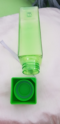 Cute New Square Tea Milk Fruit Water Cup 500ml for Water Bottles drink with Rope Transparent Sport Korean style Heat resistant-in Water Bottles from Home & Garden on AliExpress