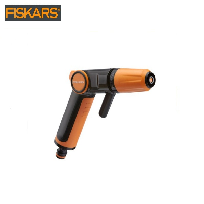 Spray gun Fiskars (1020445) garden water gun for irrigation hose spray gun Water spraying Watering a hose with a spray gun