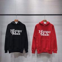 Sudadera gruesa con capucha para hombre y mujer, prenda deportiva de manga larga con letras estampadas en 3D, color rojo, negro, hecho a mano, 1:1
