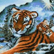Алмазная мозаика EF 896 Тигр в горах 30*40