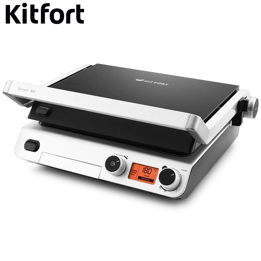 Electrical Grill Kitfort KT-1640 Electrical Grill KITFOR home kitchen appliances Lazy barbecue Grill electric 16 a air conditioning water heater leakage protector plug socket switch electrical appliances prevent electric shock