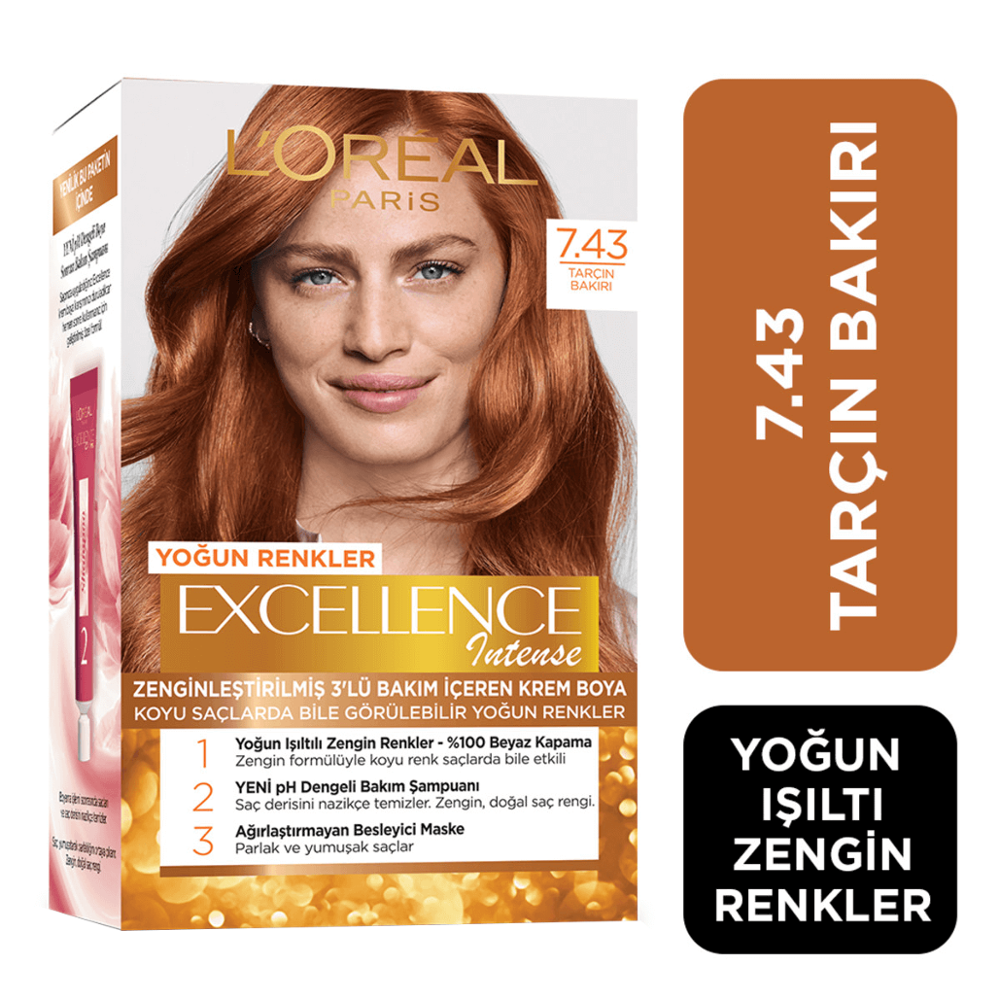 L'OREAL PARIS EXCELLENCE INTENSE Cinnamon Copper Hair Dye 7.43